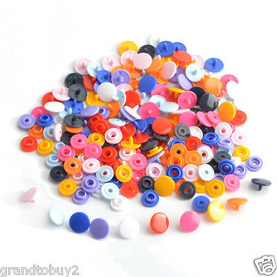 Mixed Colour 50 Sets Size 16/20 T3/T5 KAM Resin Plastic Snap Fasteners Poppers
