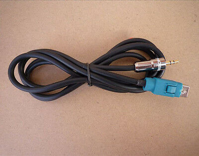 3.5mm Gold Plug Car AUX-IN Cable Adapter for ALPINE KCE-237B CDE-105E 101E 102E