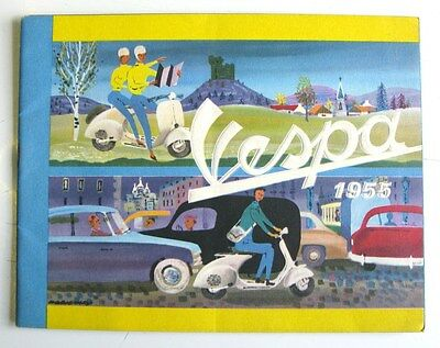 VESPA SCOOTER Sales Brochure FRENCH TEXT 1955