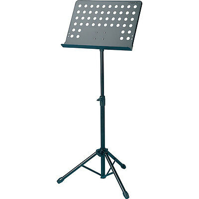 Kinsman Cms10 Conductors Style Music Stand Sturdy Metal With Adjustable Shelf