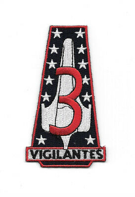 New Battlestar Galactica Vigilantes Squadron Logo Embroidered Patch, NEW UNUSED