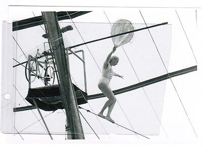 """5"""" by 7"""" Circus Photograph Photo Picture Female on High Wire"""