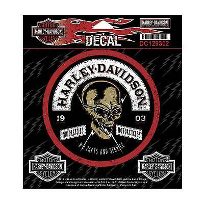 Harley-Davidson Edgy Skull Rockers Decal, SM 3 Decals Per Sheet DC129302