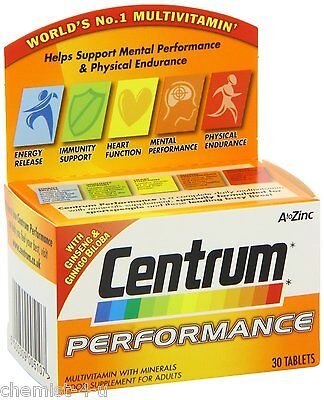 Centrum Perfomance Multivitamin and Mineral Inceases Energy Levels 30 Tablets