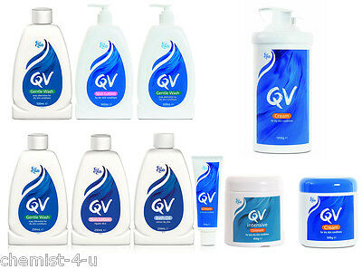 QV Skin Care Lotion Cream Gentle Wash & Bath Oils For Dry Itching Skin Repair