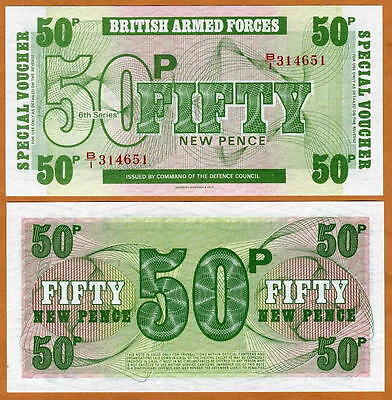 Great Britain, 50 pence, Armed Forces, ND (1972), M49, UNC