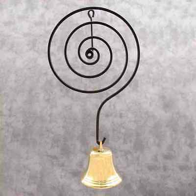 BRASS & METAL SPIRAL SHOPKEEPERS DOOR ENTRY BELL Door Mount Doorbell