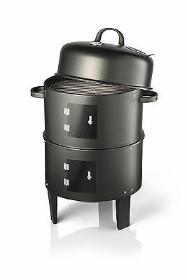 Vivo Black BBQ Charcoal Grill Barbecue Smoker Garden Outdoor Cooking Steel Smoke