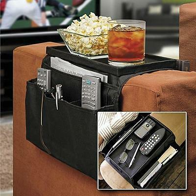 Sofa Arm Rest Chair Settee Couch Remote Control Table Top Holder Organiser Tray