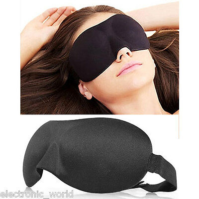 3D Eye Mask Travelling Travel Plane Air Sleep Sleeping Blindfold Rest Shade Soft