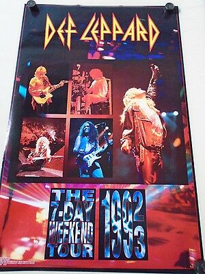 "Def Leppard / Orig.Poster / #6102 / Group Tour ""93""/ Exc.+ New cond./ 22 x 34"""