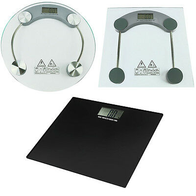 Glass Digital Electronic LCD Bathroom Platform Weighing Body Scales Lose Fat