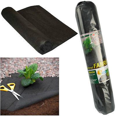 10M X 1M Weed Control Fabric Membrane Ground Cover Sheet Garden Landscape Soil