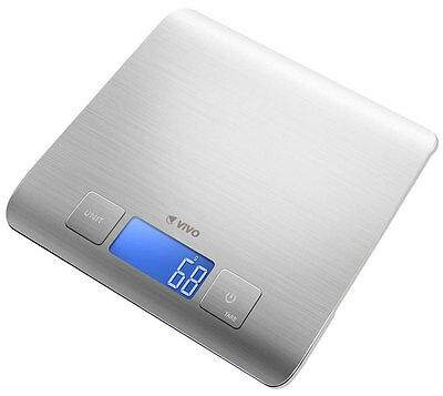 Electronic Digital LCD Cuisine Stainless Steel Food Kitchen Weighing Scale 5000g