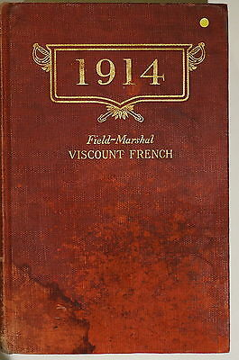 WW1 British 1914  Field Marshal Viscount French Battle Ypres Reference Book