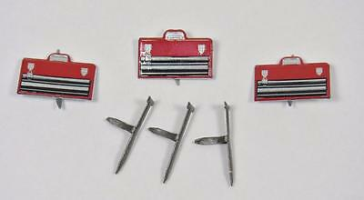 BRADS TOOL KIT / NAIL  pk of 6 dad tools handyman scrapbooking craft split pin