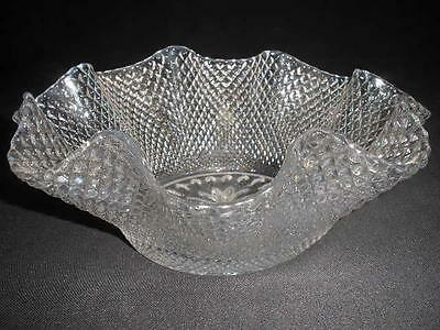 STUNNING FLUTED CRYSYAL ROUND DISH LARGE SALAD SWEETS CRISTAL d'ARQUES FRANCE