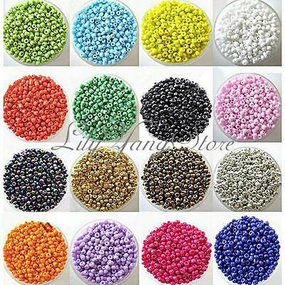 1200PCS Multi Colors Czech Glass Seed Spacer Beads Jewelry Making DIY Pick 2mm