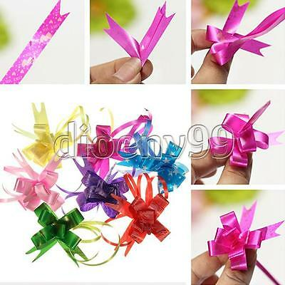 30Pcs Decoration Ribbon Butterfly Present Wrap Pull Bows Weddings Birthday Gift