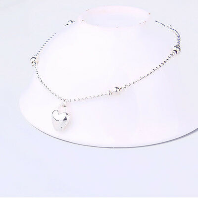 The Chain Of Silver White Solid Sterling Silver Anklet Cute Girls Essential