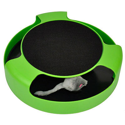 Cat Kitten Catch The Mouse Plush Moving Toy Scratching Claw Care Mat Play Toy • EUR 6,44
