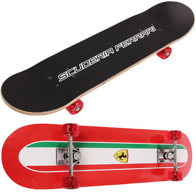 Official Ferrari Professional Maple Wood Skateboard Skating Complete Deck Board