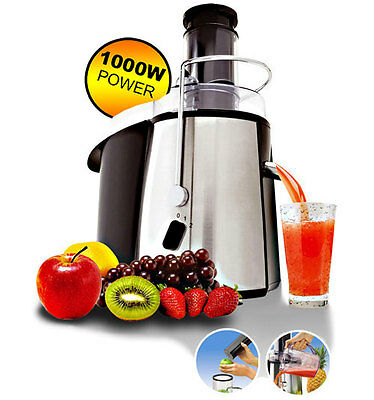 1000W Ultra Powerful Professional Whole Fruit Vegetable Juicer Extractor & Jug