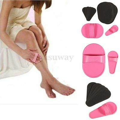 Pro Smooth Legs Skin Pads Arm Face Upper Lip Hair Removal Remover Set Exfoliator