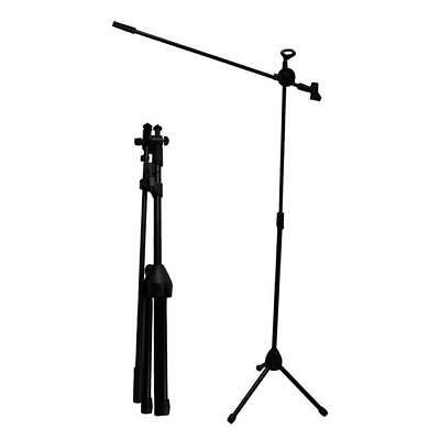 Professional Boom Microphone Mic Stand Holder Height Angle Adjustable Folding