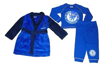Baby Boys Official Chelsea Pyjamas & Dressing Gown Set 12-18 Months