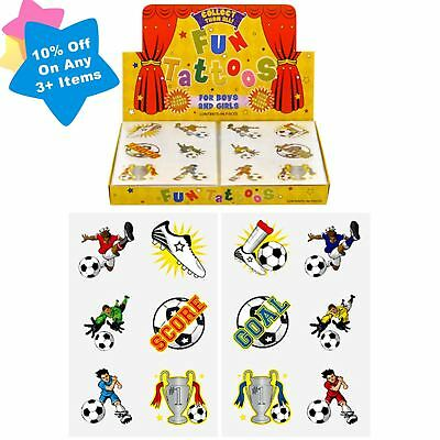 Boys 72 Football Temporary Tattoos Birthday Party Loot Bag Toy Fillers For Kids