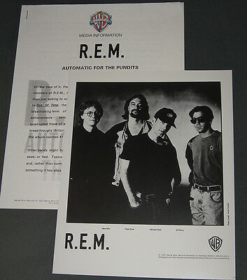Rem 'Automatic For The People' 1992 Press Kit—Photo