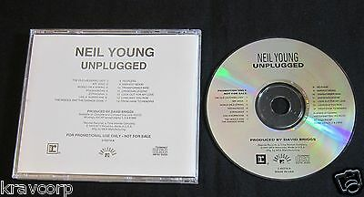 Neil Young 'Unplugged' 1993 Promo Cd