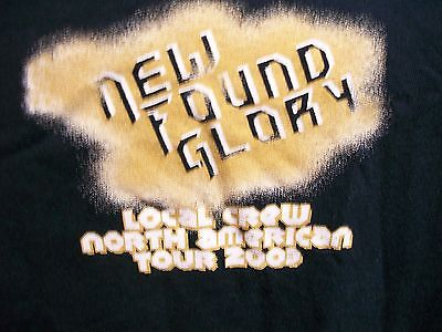New Found Glory local crew North America 2003 Tour shirt XL