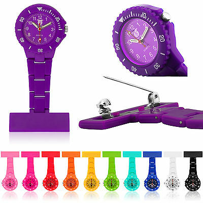 High Quality Coloured Waterproof Plastic Nurses Fob Watch Brooch Ladies Nurse