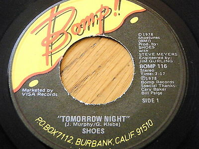 "Shoes - Tomorrow Night  7"" Vinyl"
