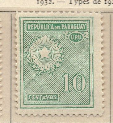 Paraguay 1932 Early Issue Fine Mint Hinged 10c. 169912