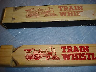 """Wooden Train Whistle - 7"""" x 1/2' X 3/4"""" - With Box"""