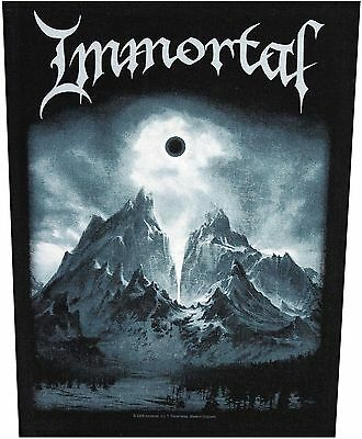XLG Immortal Blashyrkh Mountains Black Metal Music Band Sew On Applique Patch