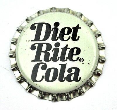 Diet Rite Cola Kronkorken USA 1970er Bottle Cap weiß