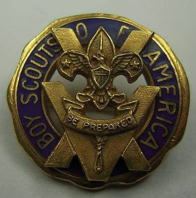 40s 50s Boy Scouts of America 15 Year Pin - Robbins Co - PB