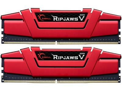 G.Skill DDR4-2400 8GB(4GBx2) Dual Channel RipjawsV Blazing Red F4-2400C15D-8GVR
