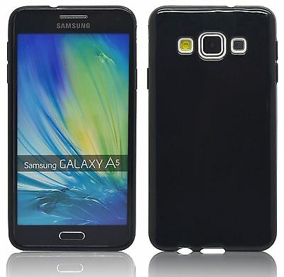New Black Tpu Hydro Gel Case Cover Skin + Film For Samsung Galaxy A5 2015