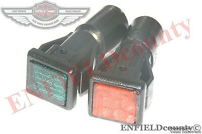 VESPA PX MK1 PE EARLY INDICATOR TELL TALE LAMP SET OF 2 AMBER & GREEN @ECspares
