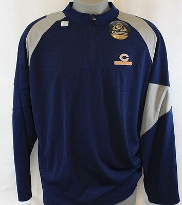 NEW Mens NFL Apparel Chicago BEARS Blue Long Sleeve 1 4 Zip Moisture Wick  Shirt 987df98f4