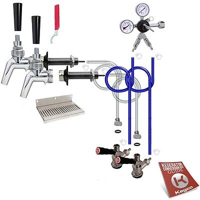 Kegco Kegerator 2-Keg Tap Door Mount Conversion Kit 100% Stainless Beer Contact