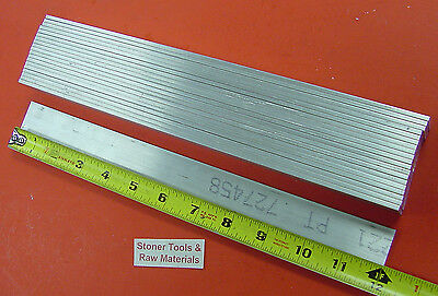 "20 Pieces 1/8"" X 1"" ALUMINUM 6061 FLAT BAR 12"" long T6511 .125"" New Mill Stock"