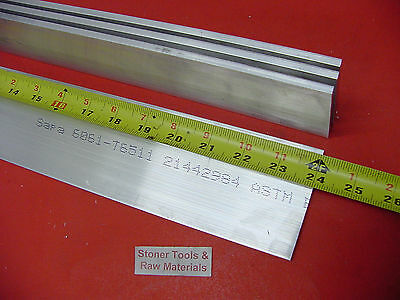 """4 Pieces 1/4"""" X 3-1/2"""" ALUMINUM 6061 FLAT BAR 24"""" long Solid T6 Plate Mill Stock"""