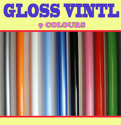 【GLOSS】Vehicle Wrap Vinyl 【1.52 Meter x 0.2 Meter】 Sticker  Air /bubble Free