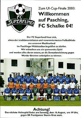 UI-Cup Final 12.08.2003 FC Superfund Pasching - FC Schalke 04, InterToto Cup